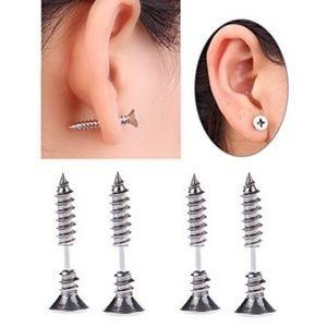 WOMEN'S Metal Steel Screw Nail Earrings Fashion(2)